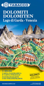 DOLOMITY mapa panoramiczna 1:200 000 TABACCO 2019