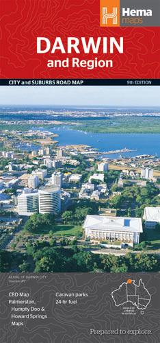 DARWIN AUSTRALIA plan miasta i mapa regionu HEMA