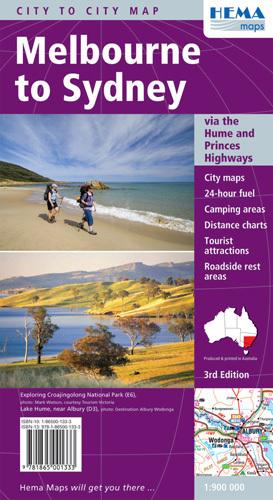 Od MELBOURNE do SYDNEY mapa samochodowa HEMA