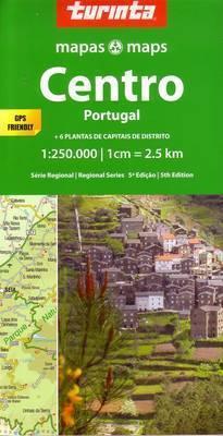 PORTUGALIA ŚRODKOWA mapa samochodowa 1:250 000 TURINTA