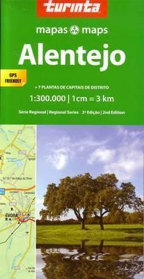 ALENTEJO PORTUGALIA mapa samochodowa 1:300 000 TURINTA