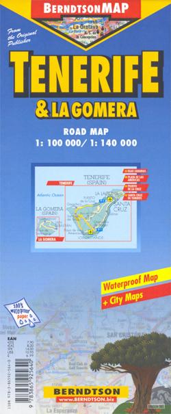 TENERYFA I LA GOMERA mapa laminowana BERNDTSONMAP