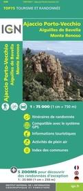 OD AJACCIO DO PORTO VECCHIO mapa turystyczna IGN