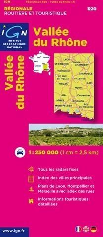 R20 DOLINA RODANU mapa samochodowa 1:250 000 IGN