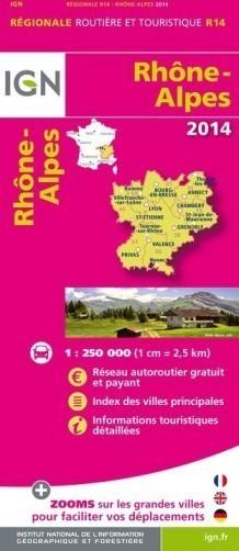 R14 RODAN ALPY mapa samochodowa 1:250 000 IGN 2014