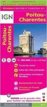 R11 POITOU-CHARENTES mapa samochodowa 1:250 000 IGN