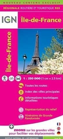 R03 ILE DE FRANCE mapa samochodowa 1:250 000 IGN