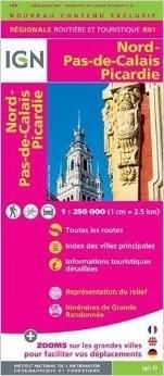 R01 NORD-PAS-DE-CALAIS I PIKARDIA mapa samochodowa 1:250 000