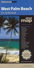 WEST PALM BEACH - FLORYDA plan miasta UNIVERSALMAP
