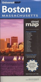 BOSTON - MASSACHUSETTS plan miasta UNIVERSALMAP USA