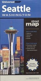 SEATTLE - WASHINGTON plan miasta UNIVERSALMAP USA