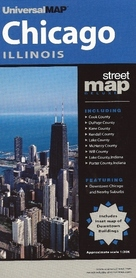 CHICAGO - ILLINOIS plan miasta UNIVERSALMAP