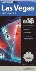 LAS VEGAS - NEVADA plan miasta UNIVERSALMAP