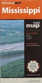 MISSISSIPPI mapa samochodowa UNIVERSALMAP
