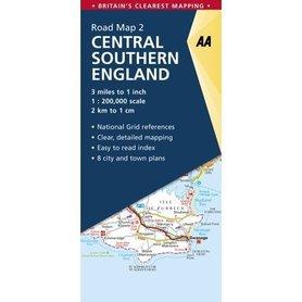Central and Southern England mapa samochodowa 1:200 000 AA