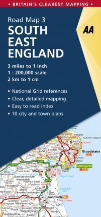 ANGLIA POŁUDNIOWO-WSCHODNIA South East England mapa samochodowa 1:200 000 AA