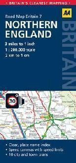 AA07 Northern England mapa samochodowa 1:200 000 AA