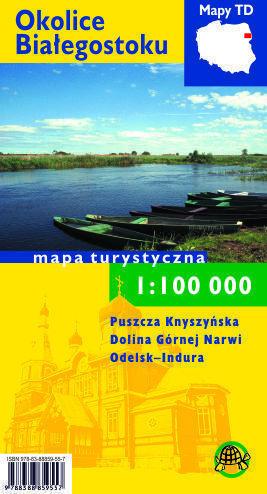OKOLICE BIAŁEGOSTOKU mapa turystyczna 1:100 000 TD FOLIA