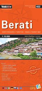 BERATI laminowany plan miasta VEKTOR ALBANIA