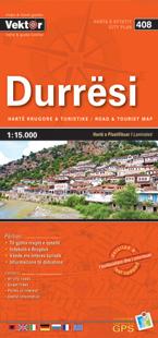 DURRESI laminowany plan miasta VEKTOR ALBANIA