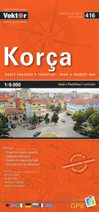 KORCA laminowany plan miasta VEKTOR ALBANIA