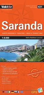 SARANDA laminowany plan miasta VEKTOR ALBANIA