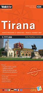 TIRANA plan miasta i mapa regionu VEKTOR ALBANIA