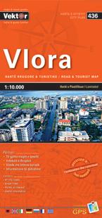 VLORA laminowany plan miasta VEKTOR ALBANIA
