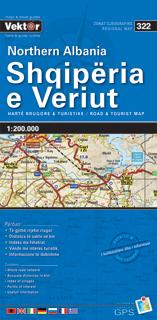 ALBANIA PÓŁNOCNA mapa samochodowa VEKTOR
