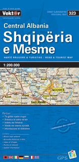 ALBANIA ŚRODKOWA mapa samochodowa VEKTOR