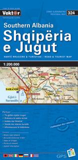 ALBANIA POŁUDNIOWA mapa samochodowa VEKTOR