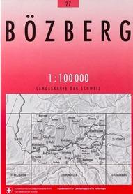 27 BOZBERG mapa topograficzna 1:100 000 SWISSTOPO