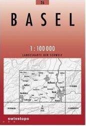 26 BASEL BAZYLEA mapa topograficzna 1:100 000 SWISSTOPO