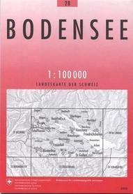 28 BODENSEE mapa topograficzna 1:100 000 SWISSTOPO