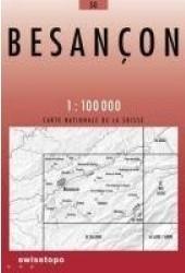 30 BESANCON mapa topograficzna 1:100 000 SWISSTOPO