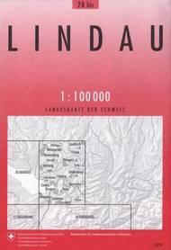 28bis  LINDAU mapa topograficzna 1:100 000 SWISSTOPO