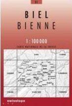 31 BIEL - BIENNE mapa topograficzna 1:100 000 SWISSTOPO