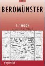 32 BEROMUNSTER mapa topograficzna 1:100 000 SWISSTOPO