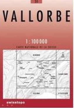 35 VALLORBE mapa topograficzna 1:100 000 SWISSTOPO