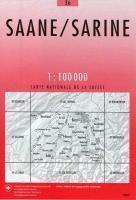 36 SAANE - SARINE mapa topograficzna 1:100 000 SWISSTOPO