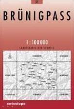 37 BRUNIGPASS mapa topograficzna 1:100 000 SWISSTOPO