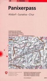 PANIXERPASS 38 mapa topograficzna 1:100 000 SWISSTOPO