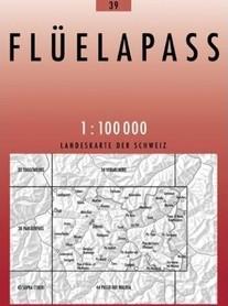 39 FLUELAPASS mapa topograficzna 1:100 000 SWISSTOPO