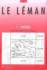 40 LE LEMAN mapa topograficzna 1:100 000 SWISSTOPO