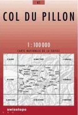 41 COL DU PILLON mapa topograficzna 1:100 000 SWISSTOPO