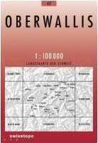 42 OBERWALLIS mapa topograficzna 1:100 000 SWISSTOPO