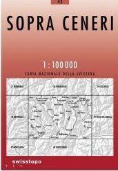 43 SOPRA CENERI mapa topograficzna 1:100 000 SWISSTOPO