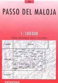 44 PASSO DEL MALOJA mapa topograficzna 1:100 000 SWISSTOPO