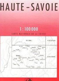 45 HAUTE SAVOIE mapa topograficzna 1:100 000 SWISSTOPO