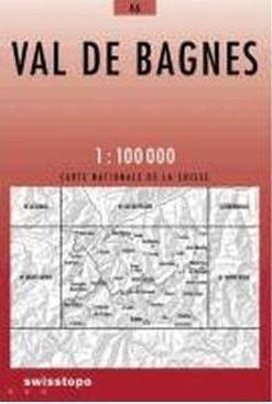 46 VAL DE BAGNES mapa topograficzna 1:100 000 SWISSTOPO